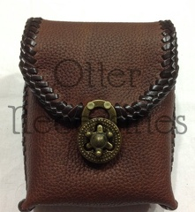 Dark Brown Small Soft Pouch