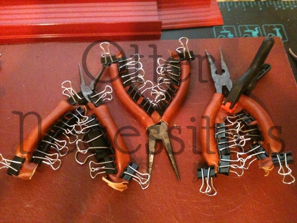 Leather Pliers Handles Being Molded