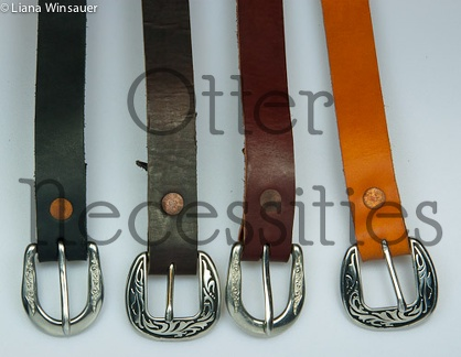 One-Inch Buckled Belts